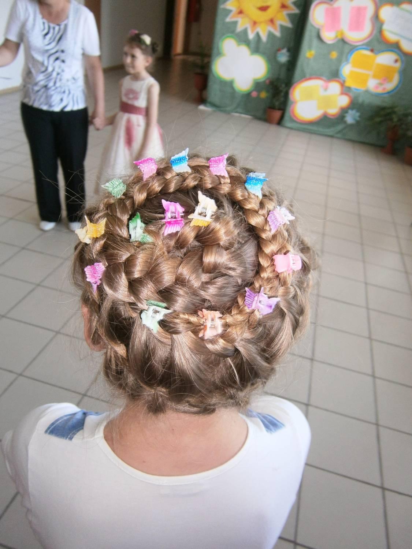 конкурсные прически детей на длинные волосы